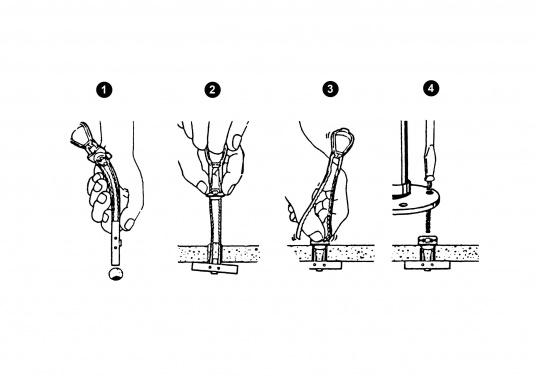 Schrauben-Anker nach dem Prinzip von Hohlraumdübeln. Wenn Sie von hinten nicht an die Mutter kommen (Hohlräume etc.), leisten Ihnen diese innovativen Schrauben-Anker nützliche Hilfe.  (Bild 4 von 4)