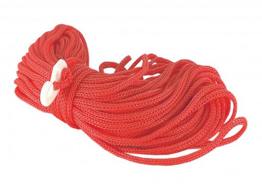 """Filin de sauvetage en polypropylène avec un crochet en nylon à une extrémité. 30 mètres. Disponible en 6 ou 8 mm."""""""