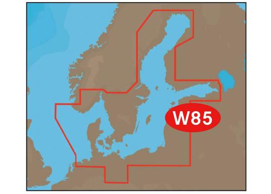 """Neue Fahrtgebiete WIDE! Noch größer! Noch praktikabler!&nbsp&#x3B;Mit Wetter-Vorschau Karten-Overlay,&nbsp&#x3B; Satelliten Karten-Overlay, und den besten Seekartenmodulen.&nbsp&#x3B;C-MAP MAX: W85 &ndash&#x3B; Ostsee und Dänemark."""""""
