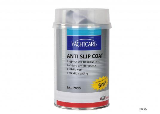 For a secure grip! This ready to use anti slip coat for fiberglass suraces is particularly suitable for use on all running surfaces where a secure grip in wet or wavy conditions is important.