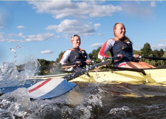 La coupe et le poids de ce gilet en font un équipement idéal pour l'aviron, le kayak et tout autre sport nautique pratiqué en eaux intérieures et espaces côtiers protégés. 100 N. Pour utilisateur à partir de 50 Kg (Image 2 de 10)