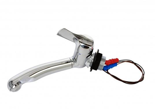 Robinet de grande qualité avec une poignée précise pour un réglage parfait du débit et de la température.  (Image 5 de 5)
