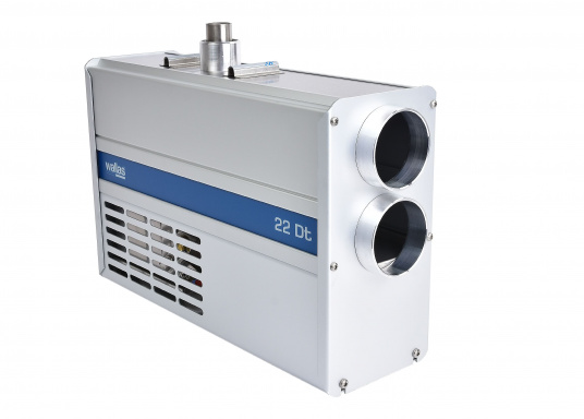 """Diesel heater with the best power utilisation in its class. The Wallas 22 Dt has an extremely low power consumption and thus can also be used on boats with smaller battery capacities."""""""