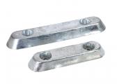 Bild von Aluminium-Anoden, flache Bauform mit Bohrung