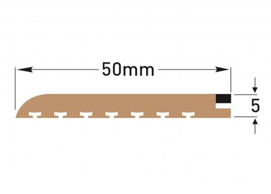<div>Elegant und technisch hochwertig! Der flexible Teakoptik Deckbelag kann auf Kunststoff-, Stahl- und Holzoberflächen eingesetzt werden. Er ist langlebig, vollständig UV-stabilisiert und besonders rutschfest.</div>  (Bild 9 of 60)