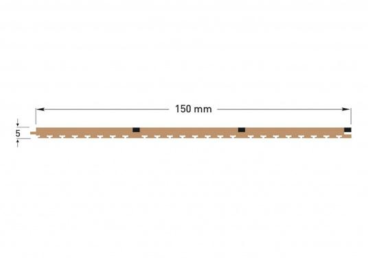 <div>Elegant und technisch hochwertig! Der flexible Teakoptik Deckbelag kann auf Kunststoff-, Stahl- und Holzoberflächen eingesetzt werden. Er ist langlebig, vollständig UV-stabilisiert und besonders rutschfest.</div>  (Bild 12 of 60)
