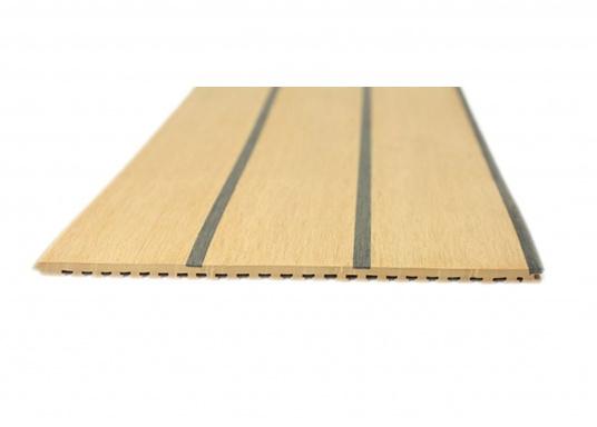 <div>Elegant und technisch hochwertig! Der flexible Teakoptik Deckbelag kann auf Kunststoff-, Stahl- und Holzoberflächen eingesetzt werden. Er ist langlebig, vollständig UV-stabilisiert und besonders rutschfest.</div>  (Bild 10 of 60)