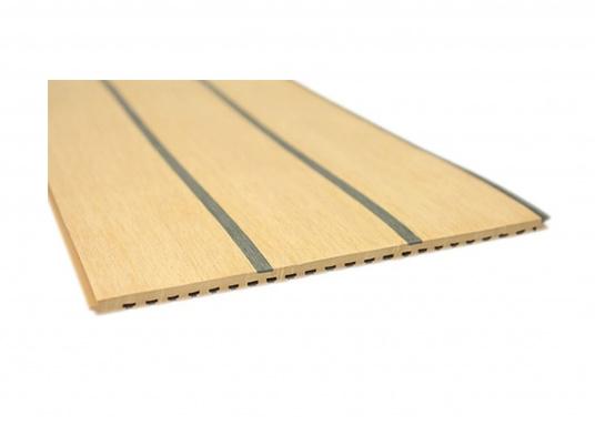 <div>Elegant und technisch hochwertig! Der flexible Teakoptik Deckbelag kann auf Kunststoff-, Stahl- und Holzoberflächen eingesetzt werden. Er ist langlebig, vollständig UV-stabilisiert und besonders rutschfest.</div>  (Bild 8 of 60)