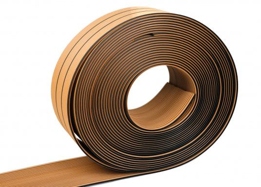 <div>Elegant und technisch hochwertig! Der flexible Teakoptik Deckbelag kann auf Kunststoff-, Stahl- und Holzoberflächen eingesetzt werden. Er ist langlebig, vollständig UV-stabilisiert und besonders rutschfest.</div>  (Bild 59 of 60)