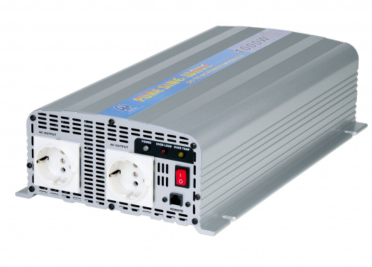 These compact pure sine wave power inverters generate a clean sine wave voltage. They are ideal for audio and video equipment as well as for computers. Several models available. (Image 2 of 3)