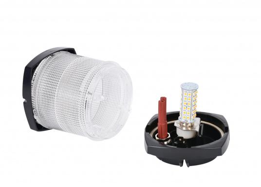Extreme Helligkeit – dieser High-Power LED-Einsatz mit 60extrem hellen Leuchtdioden ist für den Einsatz in Positionsleuchten geeignet. Eine integrierte Elektronik ermöglicht die Erkennung der Polarität.  (Bild 5 von 6)