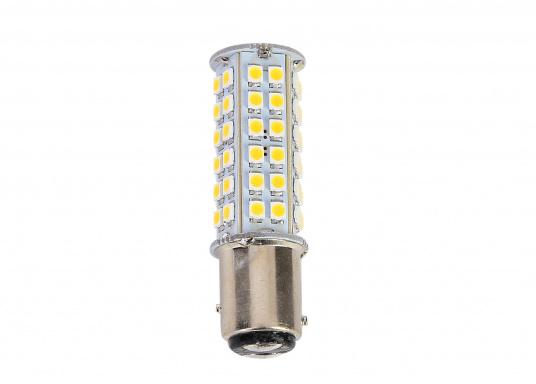 Extreme Helligkeit – dieser High-Power LED-Einsatz mit 60extrem hellen Leuchtdioden ist für den Einsatz in Positionsleuchten geeignet. Eine integrierte Elektronik ermöglicht die Erkennung der Polarität.  (Bild 3 von 6)