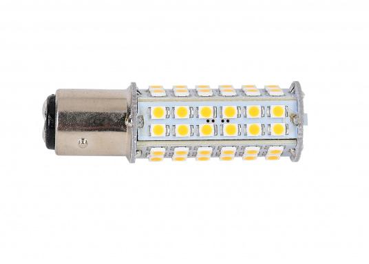 Extreme Helligkeit – dieser High-Power LED-Einsatz mit 60extrem hellen Leuchtdioden ist für den Einsatz in Positionsleuchten geeignet. Eine integrierte Elektronik ermöglicht die Erkennung der Polarität.  (Bild 2 von 6)