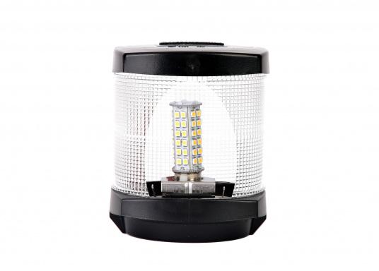 Extreme Helligkeit – dieser High-Power LED-Einsatz mit 60extrem hellen Leuchtdioden ist für den Einsatz in Positionsleuchten geeignet. Eine integrierte Elektronik ermöglicht die Erkennung der Polarität.  (Bild 4 von 6)