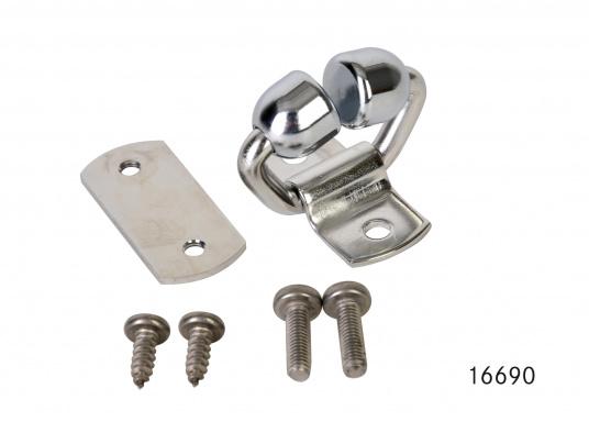 """Guide ralingue inox avec rouleaux en bronze pour endrailler la grand&#39&#x3B;voile."""""""