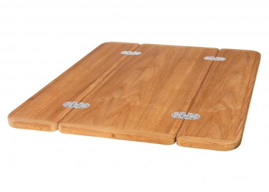 The Solid Wood Tabletops Have A Le Teak Veneer Available In Various Sizes