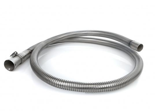 """Hochflexibler Abgasschlauch - speziellfür die Honda-Stromerzeuger EX7, EU 10i und EU 20i entwickelt. Der 1,50 m lange Schlauch ist leicht montierbar und wird inklusive V2A Anschlussadapter, Schelle und Schrauben geliefert."""""""