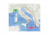 Image of Ligurian and Tyrrhenian Sea / Adriatic Sea