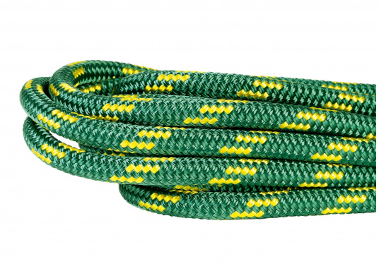 <div> High performance rope for sheets and halyards. Exclusively sold at SVB! Double braid construction with Dyneema® core and polyester cover. Top breaking load and minimal elongation.</div> (Imagen 5 of 5)