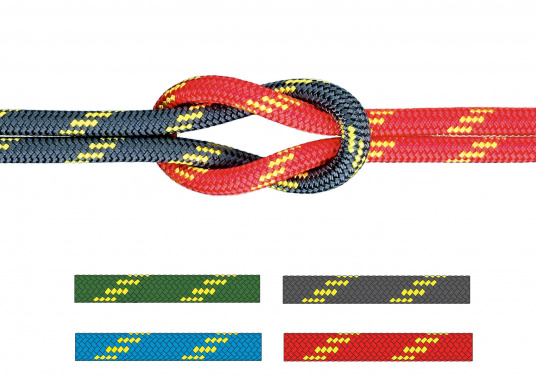 """High performance rope for sheets and halyards. Exclusively sold at SVB! Double braid construction with Dyneema&reg&#x3B; core and polyester cover. Top breaking load and minimal elongation."""""""
