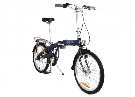 """Léger et solide ! Le vélo pliant alu SEATEC 20"""" est prêt en quelques secondes. Le cadre aluminium, le guidon réglable en hauteur, la selle et le dérailleur 3 vitesses en font une bicyclette agréable."""""""