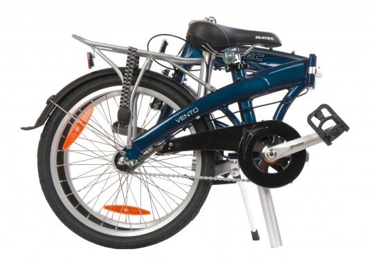 """Léger et solide ! Le vélo pliant alu SEATEC 20"""" est prêt en quelques secondes. Le cadre aluminium, le guidon réglable en hauteur, la selle et le dérailleur 3 vitesses en font une bicyclette agréable.  (Image 2 de 10)"""