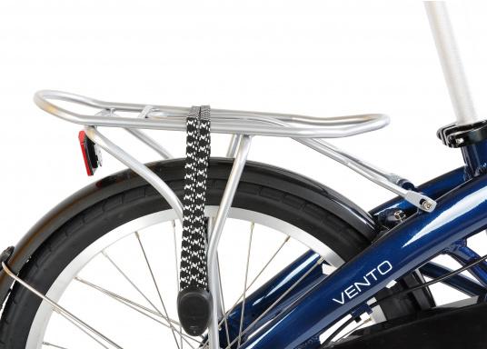 """Léger et solide ! Le vélo pliant alu SEATEC 20"""" est prêt en quelques secondes. Le cadre aluminium, le guidon réglable en hauteur, la selle et le dérailleur 3 vitesses en font une bicyclette agréable.  (Image 3 de 10)"""