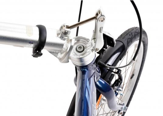 """Léger et solide ! Le vélo pliant alu SEATEC 20"""" est prêt en quelques secondes. Le cadre aluminium, le guidon réglable en hauteur, la selle et le dérailleur 3 vitesses en font une bicyclette agréable.  (Image 5 de 10)"""