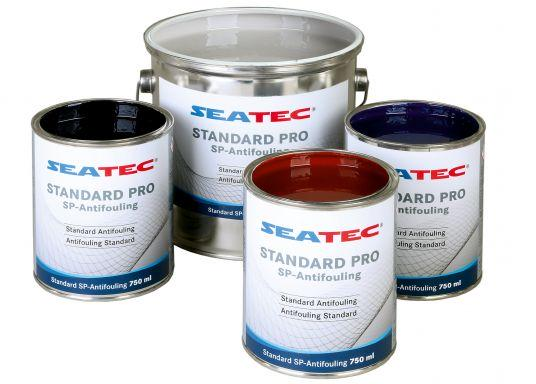 Further development of the proven SEATEC antifouling STANDARD. STANDARD Pro is a universal, self-polishing antifouling based on bioactive organic ingredients and copper compounds.""