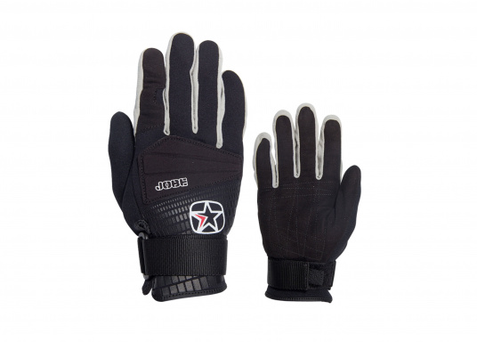 """Strength and softness are combined in these gloves with suede fabric palms. They also come with knuckle protection on top of the glove and a webbing strap with Velcro closing."""""""
