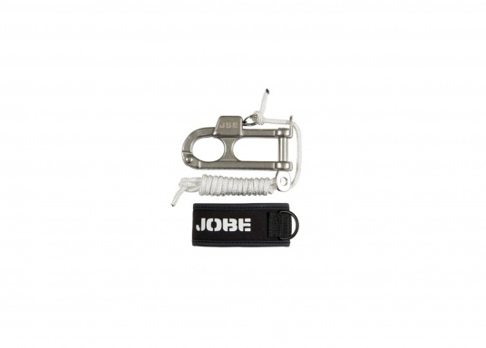 """This quick release mechanism increases your security. It is fastened between canvas and buckle for quick unlatching from the boat in case of an emergency."""""""