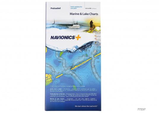 """Navionics+ bietet mehr Meer- und See-Inhalte und das beste Preis-Leistungsverhältnis!"""""""