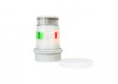 Bild von LED-Dreifarben-/Ankerlaterne mit quicfit-System Serie 34 / weißes Gehäuse