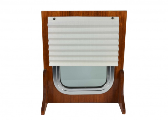 """SKYSOL Pleatedshades are an affordable solution for shading small windows and portholes. SKYSOL Pleatedshades can be mounted quickly with ease."""""""