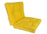 Image of Kapok Double Cushion / yellow