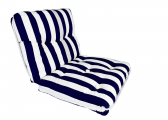 Imágen de Kapok Double Cushion / navy-stripes