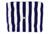 Imágen de Kapok Single Cushion / navy-stripes