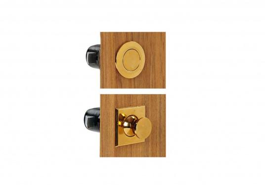 <div> Brass press snapper. Square shape. Flush design.</div> (Image 4 of 4)