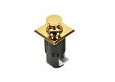 Image of Press Snapper Push-Lock/ brass, square