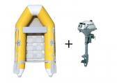 Image of NEMO 230 /yellow-white + HONDA BF 2.3 Inflatable Dinghy Set