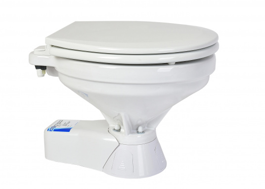 """Ces WC marins QUIET FLUSH ont une chasse silencieuse, comme les toilettes domestiques. Un seul bouton pour deux niveaux de chasse"""""""