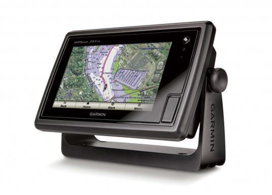 Das GPSMAP 721xs-Kombigerät aus Kartenplotter und Echolot ist bei Tag und bei Nacht problemlos abzulesen.  (Bild 4 von 7)