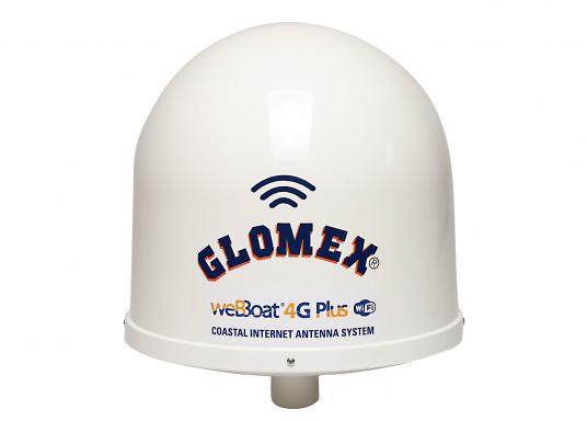 """Die WiFi-Antenne weBBoat® 4G PLUS von Glomex ist der Nachfolger der erfolgreichen weBBoat 4G. Die weBBoat 4G PLUS vereint 4G, 3G und WiFi in einem System. Profitieren Sie von einer leichten Installation und Einrichtung sowie die automatische Umschaltung zwischen der Nutzung von WLAN und Mobilfunkdaten."""""""