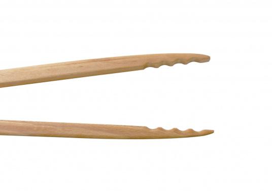 <p>Vincitricidel premio Reddot Design,queste piccole pinze di legno di faggio realizzatea mano sono l'ideale per una grigliata o un piccolo barbecue.La loro forma ergonomica le rende molto semplici da maneggiare. Lunghezza: 46 cm.</p>  (Immagine 7 di 7)