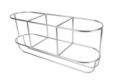 Image of Stainless Steel Fender Basket, straight / 3-sections