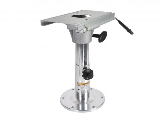 """Hergestellt aus Alu. Mittels Einhand-Bedienung ist der Stuhl- / Tischfuß drehbar und höhenverstellbar von 330 - 460 mm."""""""