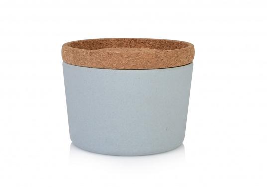 Die Korkdeckel der Vorratsdosen schließen gut und halten den Inhalt frisch und trocken. Dank des einzigartigen Designs lassen sich die Dosen super stapeln. (Bild 4 of 12)