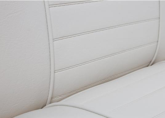 Back-To-Back Sitzbank mit Kunstlederbezug für zwei Personen mit Kunststoff-Aufbaurahmen. Die Sitzfläche lässt sich zu einer Liegefläche mit einer Länge von 166 cm ausklappen. (Bild 3 of 13)