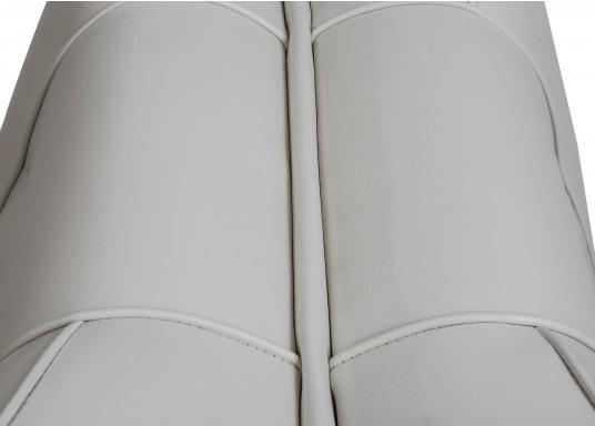 Back-To-Back Sitzbank mit Kunstlederbezug für zwei Personen mit Kunststoff-Aufbaurahmen. Die Sitzfläche lässt sich zu einer Liegefläche mit einer Länge von 166 cm ausklappen. (Bild 4 of 13)