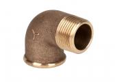 Bild von Rohrbogen 90°, IG/AG, Bronze